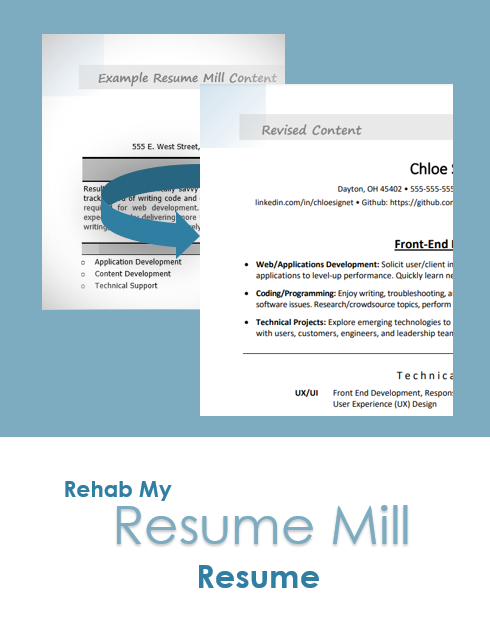 Rehab My Resume Mill Content